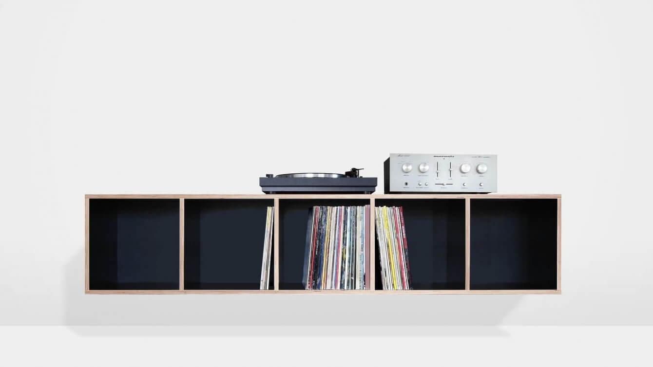 Schwebendes Vinyl Regal Für Schallplatten Technik Büro Kraut